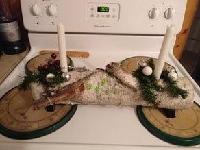 Joyeux Noel Yule Log Stand