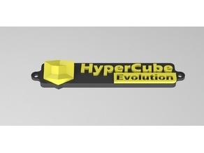 Nameplate for Hypercube Evolution with logo (Multi Parts)