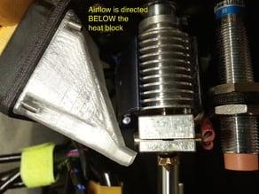 E3Dv6 Hot End Fan Shroud for Printrbot