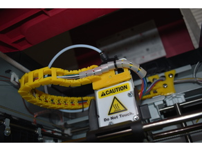 XYZ Da Vinci PRO 1.0 cable chainplate connector mount on extruder carriage
