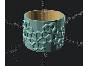 floret pentagonal pattern roller