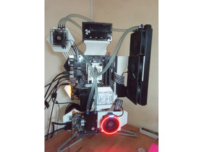 Pc Case am4 clamp, gpu holder, hexagons, ssd mount