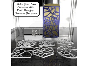 Voronoi Coasters 3D Printable - make six in 4 mins.