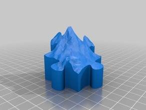 Mount Saint Helens Topographic Puzzle