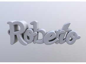 Roberto keychain