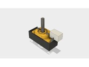 XYZ Printing Da Vinci 1.0/2.0 anti Z wobble bracket