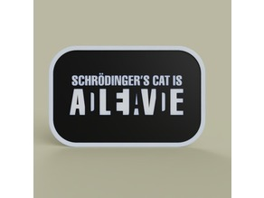 Schrodinder s cat is dead alive