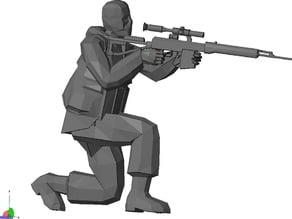 Sniper Figurine