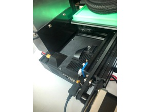 Ender 3 (Pro) - Raspberry Pi Model B+ Case [Rear mounted] (MOSfet LEDs, & Relay)