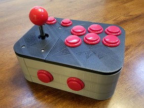 Ultimate Retropie Joystick Controller -- Remix -- sliced