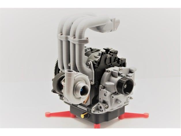 Mazda RX7 el Rotary Engine 13B-REW - Working Model by ... on