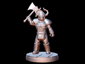 Barbarian Warlord (15mm scale)
