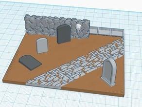 Kings of War infantry regiment base- Graveyard