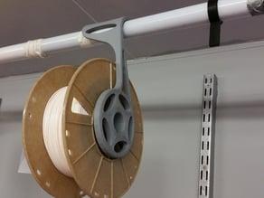 Overhead Spool Holder For Closet Rod