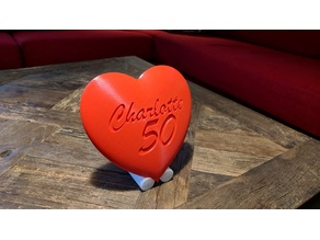 Customizable heart sign with stand