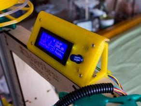 """Clip Bracket for LCD Smart Contol display on Makerfarm i3v 10"""""""