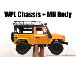 MN D90 Body on WPL RC Chassis Conversion Kit