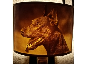 Doberman Night Light Lithophane