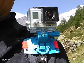Backpack Shoulder attachment for GoPro camera