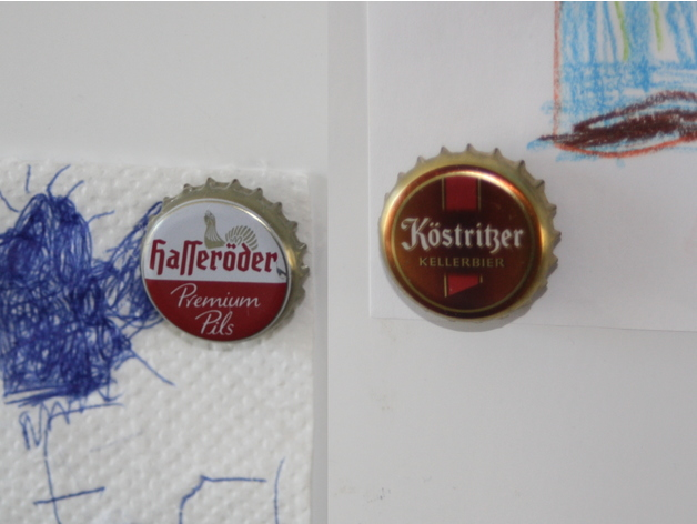 crown cork bottle cap magnet frame by Starwhooper - Thingiverse