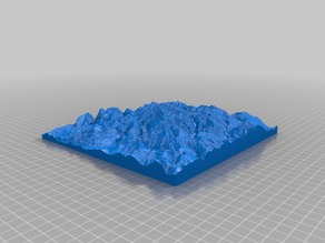 3D map of Mont Blanc massif
