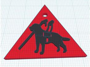 MVGYOSZ Vakvezetőkutya logo