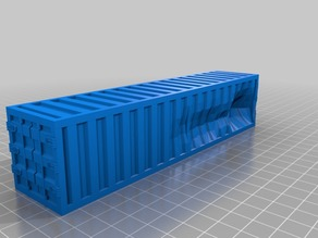 Gaslands Damaged 40ft Shipping Container