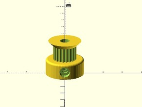 Parametric Pulley with Countersink