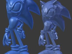 Sonic the Hedgehog Sculpt (21mb)