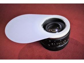 Flash Diffuser for Sony E-Mount Lenses (Macro - Reverse Mounted)