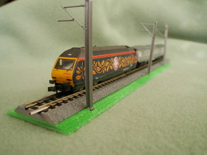 N scale Code 80 MT track 104.2mm length with modular bed and dam