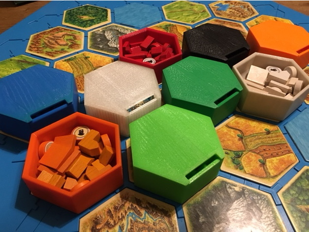 picture relating to Settlers of Catan Printable called Hex Bowls for Settlers of Catan by means of mathgrrl - Thingiverse