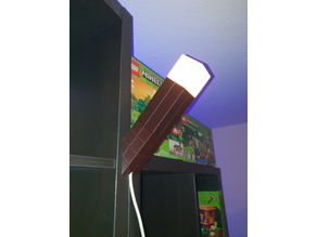 Minecraft Torch Nightlight Base with Cable outlet, a IKEA E14 bulb socket fits in
