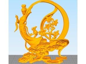 Chang'e(the beauty god of moon)