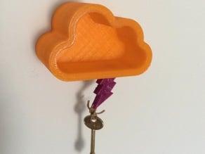 Cloud and Thunder magnet key holder