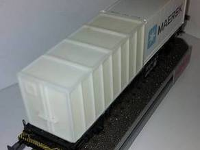 Container 20 feet for HO model train