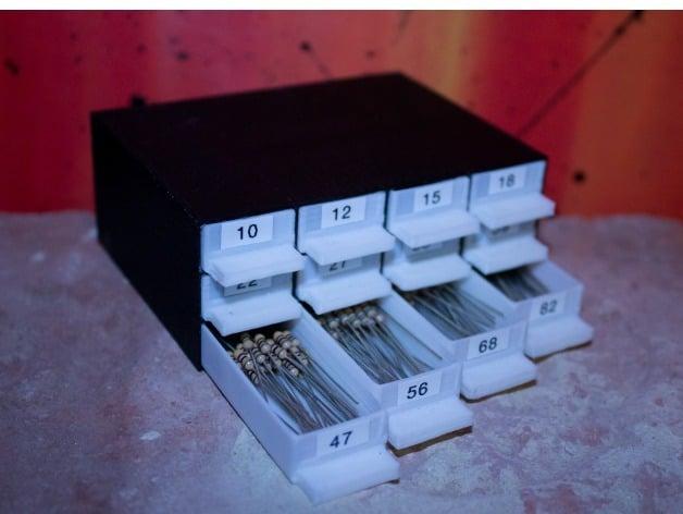 Resistor Storage Resistor Sorter By Stylesuxx Thingiverse