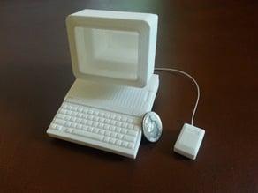 Apple IIc - 1/4 scale