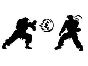 Ryu vs Ken stencil