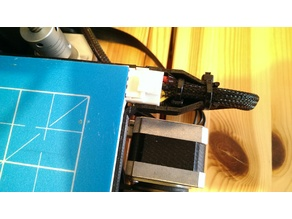 Materials friendly Ender 2 Heat Bed Cable Strain Relief