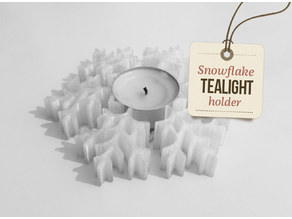 Tealight snowflake holder - christmas decoration