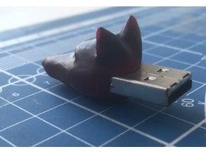 Fox's head for USB flash drive