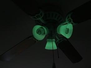 Glow in the dark ceiling fan shade