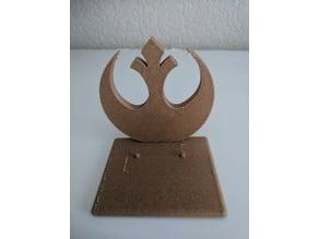 star wars display stand for black series Rebel Logo