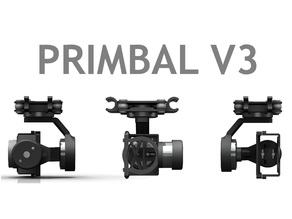 Primbal V3 - 3 Axis Brushless Gimbal for Yi/GoPro