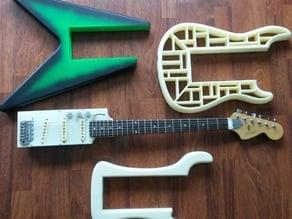 AMGP (Adapto Modular Guitar Pro) 3D Printable Guitar