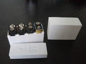 Customizable 9V Battery Case