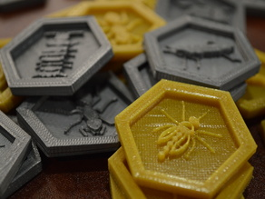 Recessed Hive Tiles with Mosquito, Ladybug, and Pillbug Expansions