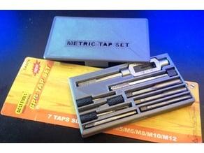 8pc Metric Tap Set Storage Box