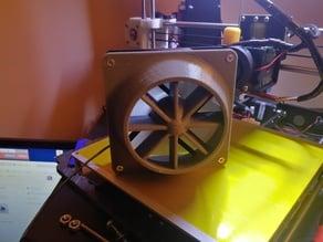 Fan shroud for sim racing wind simulation